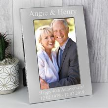 Personalised 4x6 Silver Photo Frame P0102V72